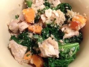 kale quinoa squash and chicken salad