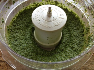 pesto in progress