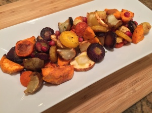 pomegranate roasted veggies