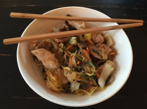 chicken and noodle bowl
