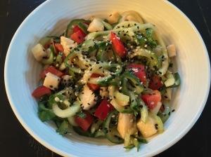 cuke zoodle salad
