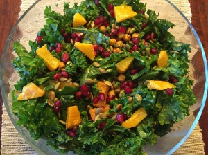 kale and squash salad