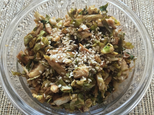 thai shaved brussel sprouts