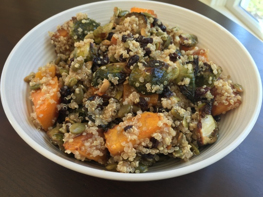 quinoa with roasted veggies