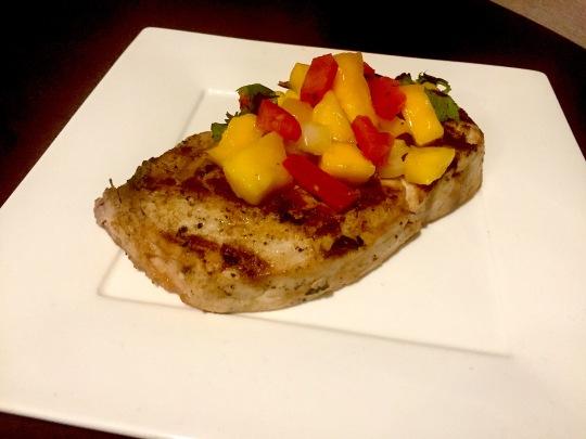 swordfish with salsa